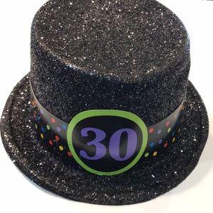 Accessories - Fedora Black Party Celebration Hat.